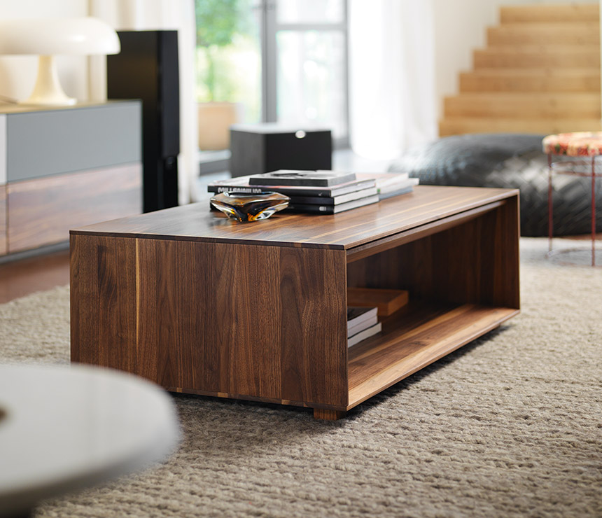 Buy Teak Wood Coffee Table With Storage Online | TeakLab