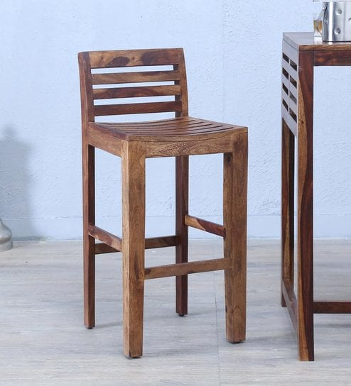 Peachy Teak Wood Bar Stool Creativecarmelina Interior Chair Design Creativecarmelinacom