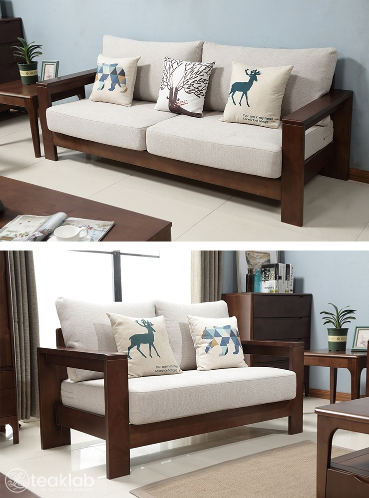 Buy Teaklab Simple Indian Style Sofa Set Online Teaklab