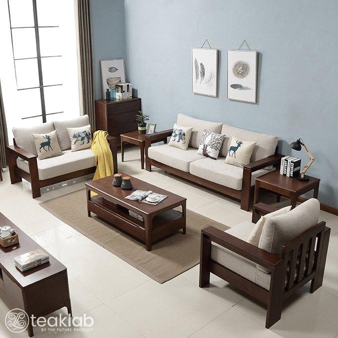 Buy TeakLab™ Simple Indian Style Sofa Set Online | TeakLab
