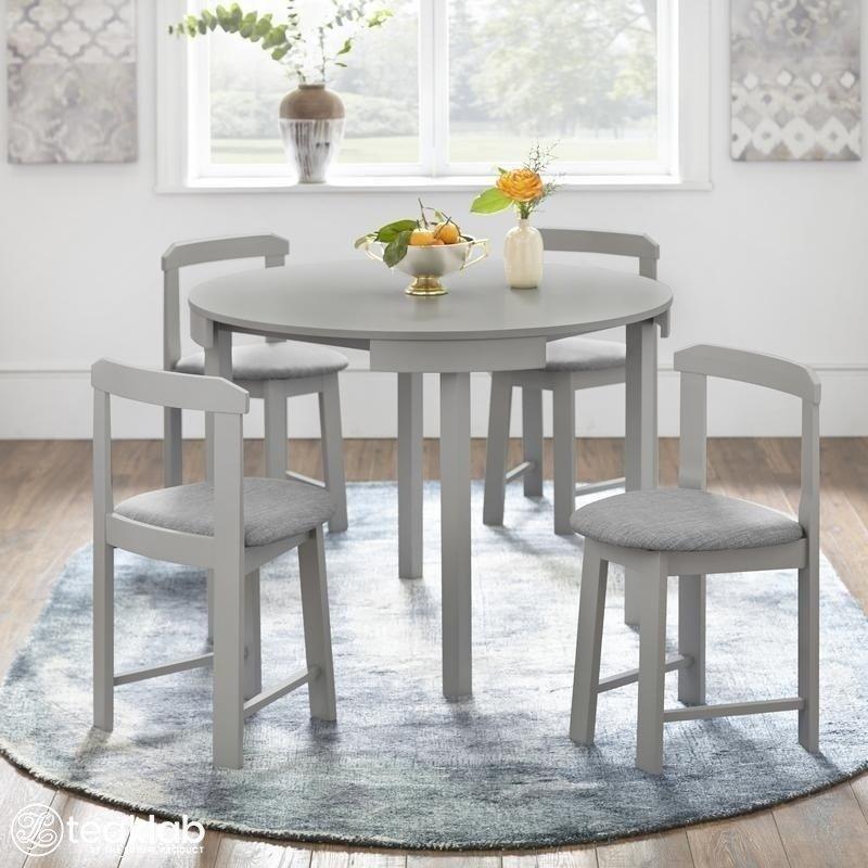 Buy 4 Seater Round Dining Set Online Teaklab
