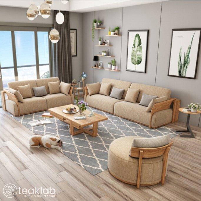 Modern Country Design Teak Wood Sofa Set