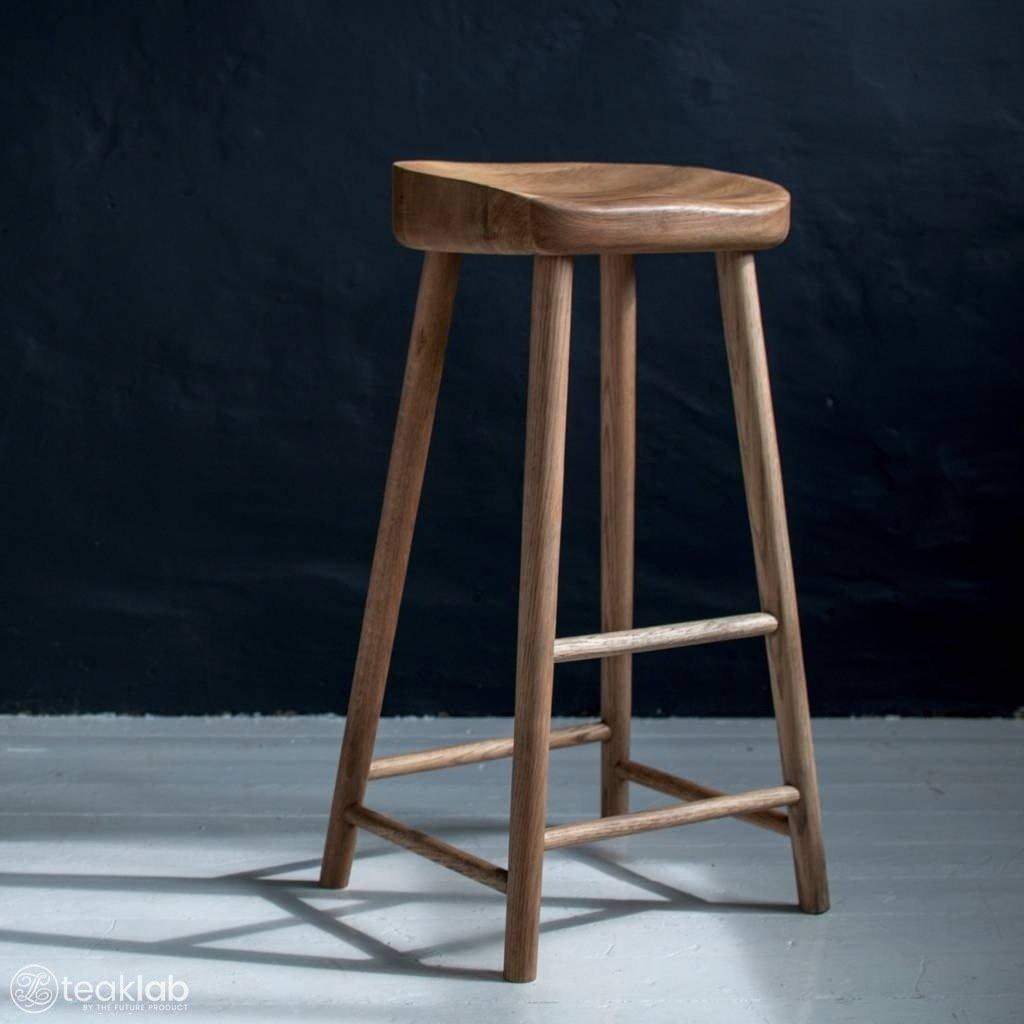 Awe Inspiring Teak Wood Bar Stool Creativecarmelina Interior Chair Design Creativecarmelinacom