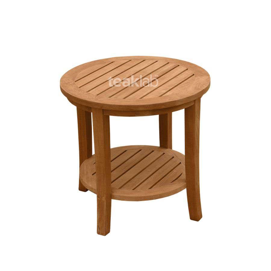 Buy Teak Wood Outdoor Round Side Table Online | TeakLab